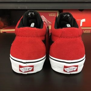 097f5a5c83 Vans Shoes - Vans TNT SG Bright Red Black White Mens New